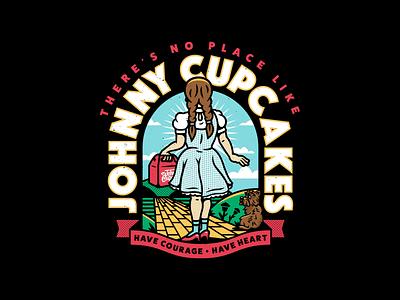Dorothy. badge movie type dorothy yellow brick road wizard of oz corey reifinger vector graphic design typography illustration johnny cupcakes