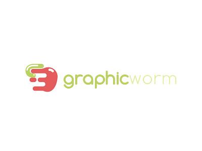 Graphicworm apple worm graphic logos logo