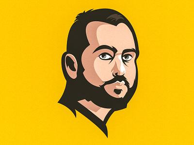 Illustration Portrait mascot face portrait illustration