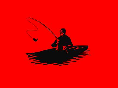 Fishing Man on the kayak kayak man fishing fish