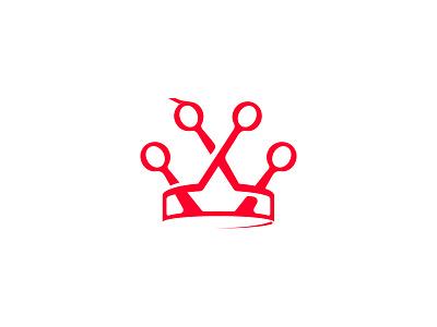 Hair Kingdom royal crown haircut hair logo