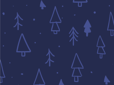 Christmas is coming christmas tree pattern forest illustration