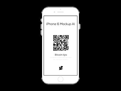 iPhone 6 Mockup AI iphone6 iphone 6 iphone mockup ai download free bitcoin
