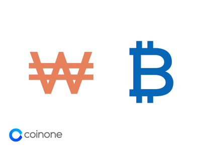KRW / BTC Symbol symbol money krw btc bitcoin coinone