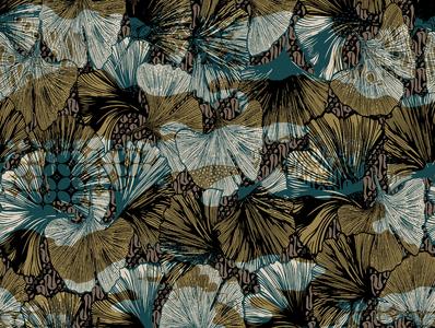 floral batik design