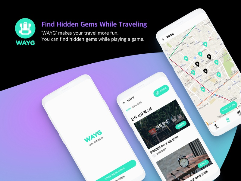 Android Traveling App seoul korea game trip traveling bagpack purple mint travel app simple designs mobile ux  ui android app