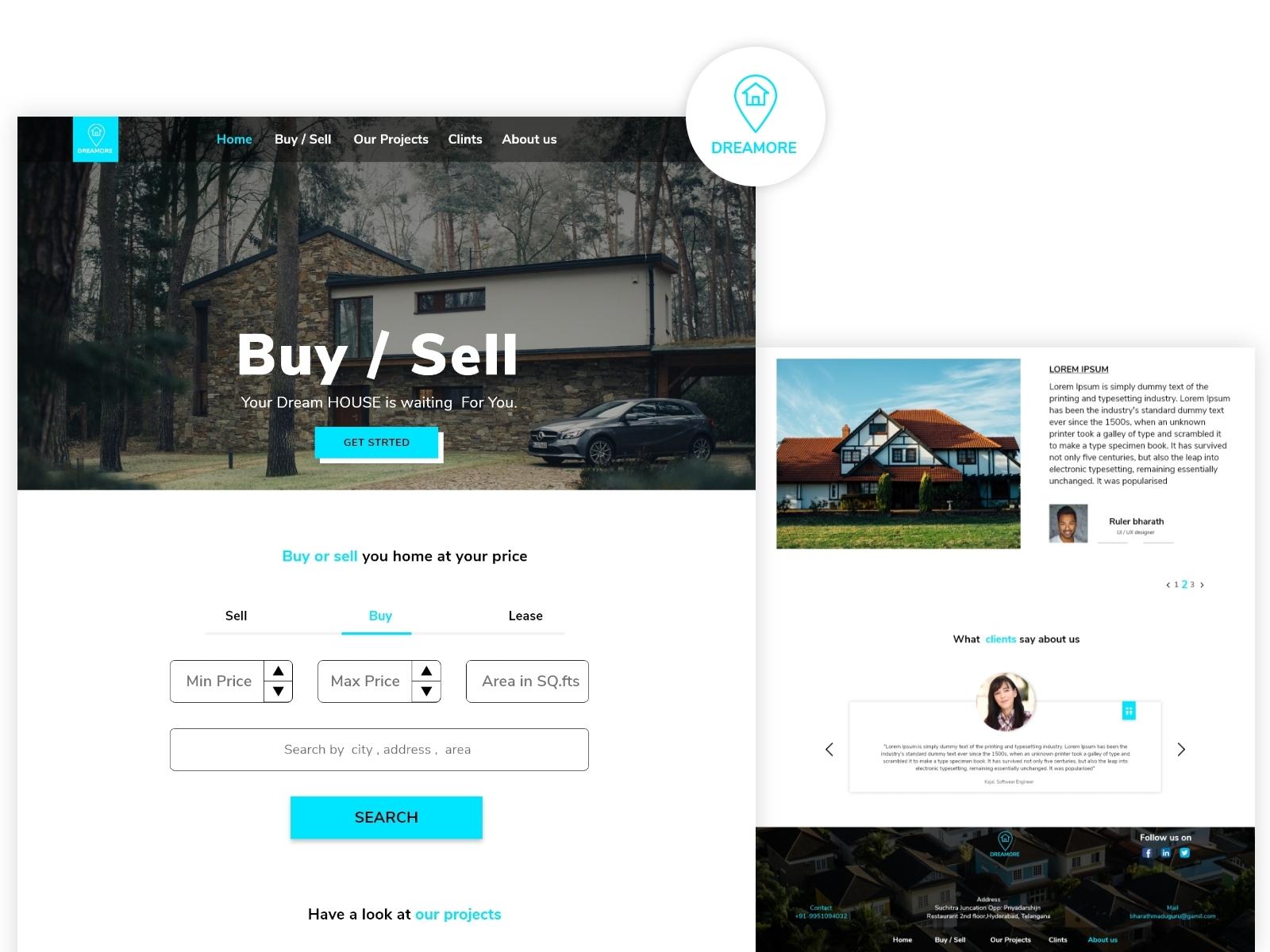 Dreammore Website By Bharath Maduguru On Dribbble