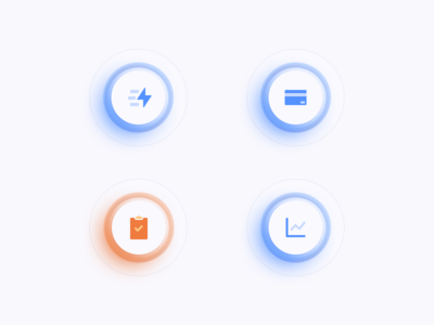 Glass icons in Figma