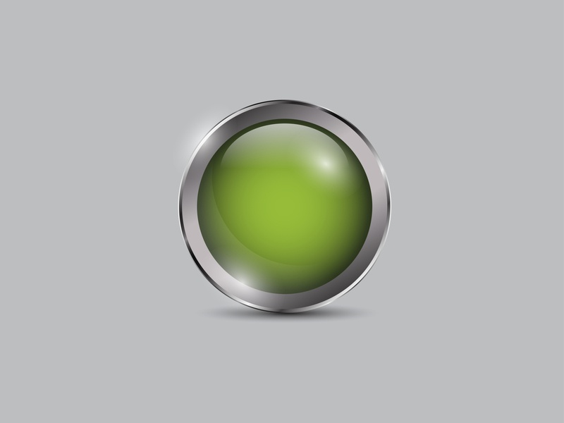 Green Button Realistic vector shiny realistic metal icon glossy circle button 3d