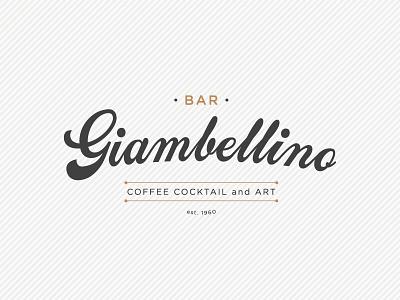 Bar Giabellino brand est art cocktail coffee bar logo