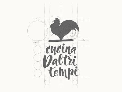 Cucina Daltri Tempi golden section logo food chicken italian cock