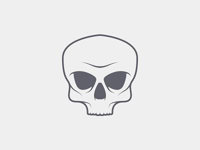 Skull t-shirt black vector illustration gray skull