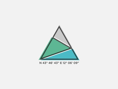 Balze triangle number gray green line blue coordinates geographic color mountain balze