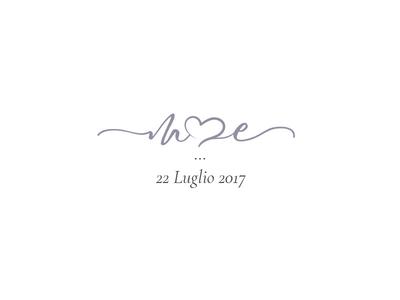 M&E Wedding heart love logo paper wedding