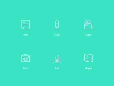 icon content map data photo video text audio