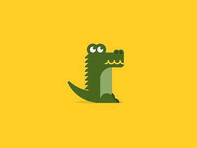 Wilson Crocodile savannah yellow tropical green icon animal crocodile