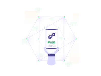 Onboarding Illustration technology capsule timer innovation app character digital design illustration