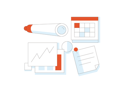 Strategy and planning agency service icons business marketing strategy consulting design digital illustration