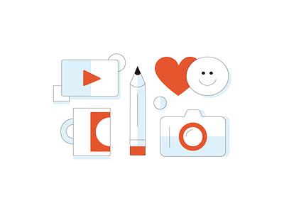 Content creation branding icon digital design illustration