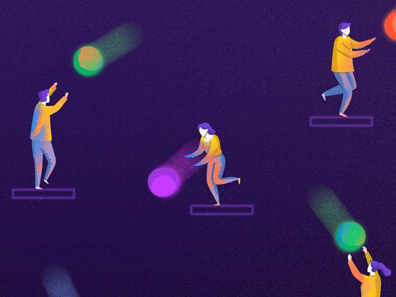 Sprint Goals people sprint blog editorial digital design illustration