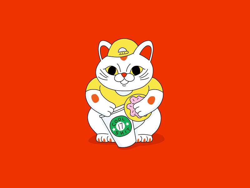 Cool Shit #17 maneki neko japan cat coffee innovation art news digital design illustration