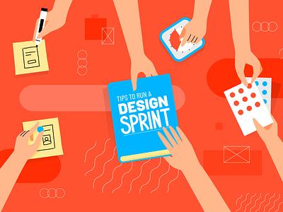 18 Tips to Run a Design Sprint ui  ux design design sprint innovation news article digital design illustration