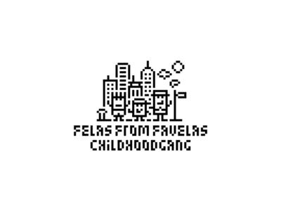 Childhood Gang - T-shi*t Print V pixel brandits t-shirt print house street city childhood gang hood child fela