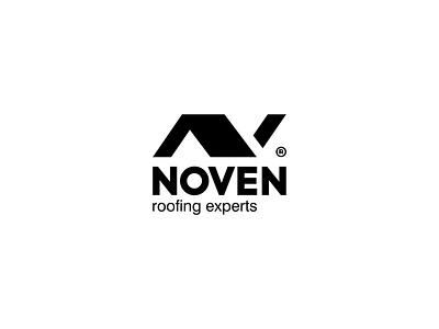 Noven - Roofing Experts construction minimal tile house expert roof monogram brandits branding logo