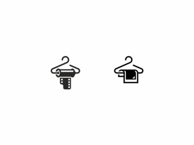 Photodrobe minimal flat branding logo dress cloth wardorbe strip film hanger photo