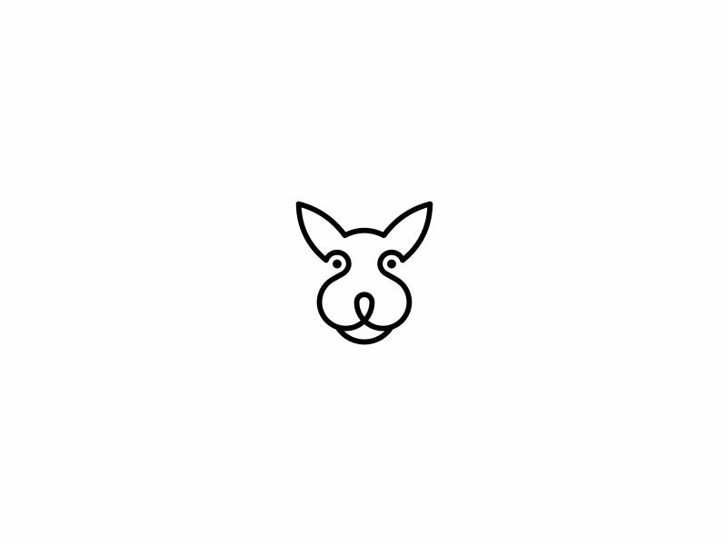 Play With Shapes II circle animal dog geometric logo design minimal mark symbol shape play