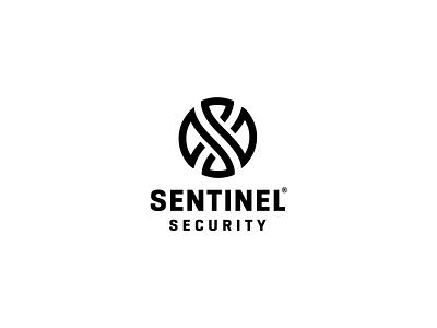 Sentinel Security hourglass wings shield circle branding logo monogram guard security sentinel