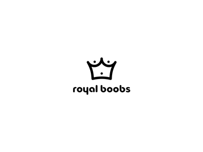 Royal Boobs [ WIP ] minimal branding logo royal crown brest boob band music