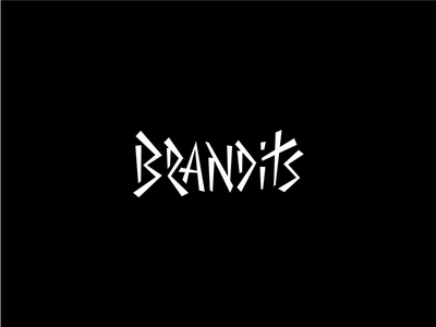 Play With Type - Brandits wild logo brandits brand font typography type play