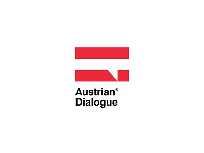 Austrian Dialogue [ WIP ] brandits minimal branding logo speech bubble flag talk speech dialogue austria