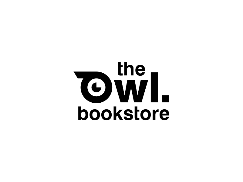 The Owl Bookstore typography store brandits branding animal logo publishing house bookstore book owl