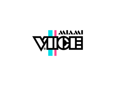 Miami Vice Tribute brandits branding logo typecase typography type soundtrack sound music tribute vice miami