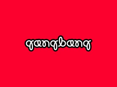 Play With Type - Gangbang brandits branding logo vector line curve bang gang typecase typography type play