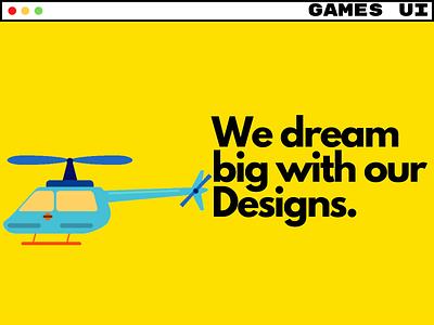 Video games - UX/UI Services Homepage. ux ui ui ux mobile games video games games graphic design branding 3d