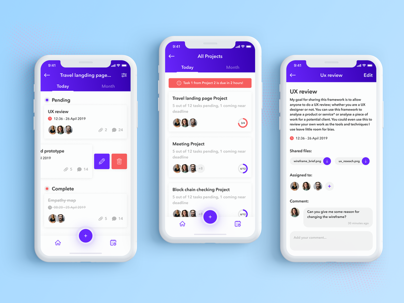 Task Manager App design app ux ui