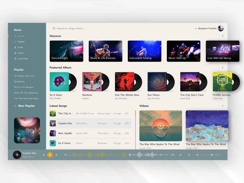 Music Player UI by Hieu Nguyen on Dribbble