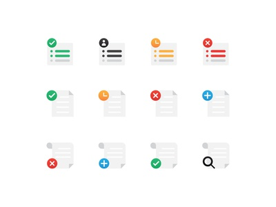 Task, File & Order icons