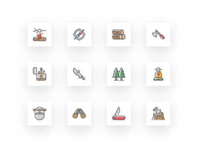 Free Adventure and Survival Icon Set