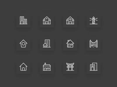 Free Building Icon Set