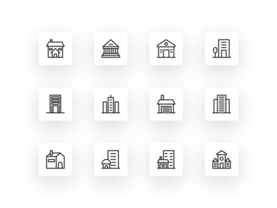 Free Bulding Architecture Icon Set