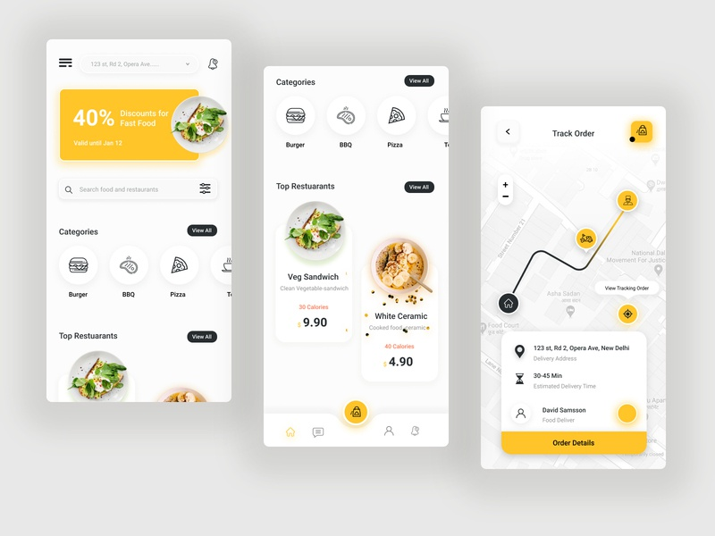 Food Mobile App mobileapp mobile app dribbble ux design