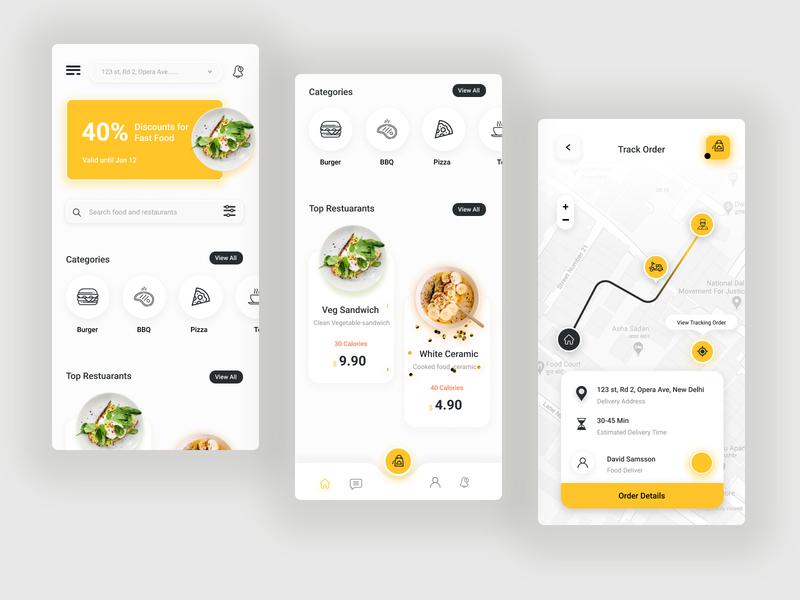 Food Mobile App mobileapp mobile app dribbble ux design