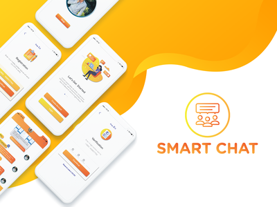 Smart Chat - Iphone Ui Project vector icon ux typography awesome illustration creative cool interface colorful adobe photoshop adobe illustrator ios application ios app design ios app development ios iphone 10 app dashboard app concept app animation ui