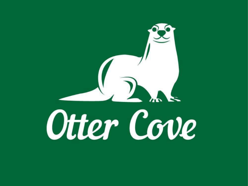 Otter cove otter green logo design