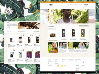 Claro Home & Products ecology green shop coffee ux ui web fairtrade ecommerce