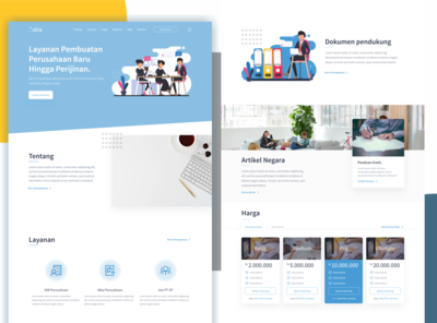 Landing  Page for Advice Startup Business